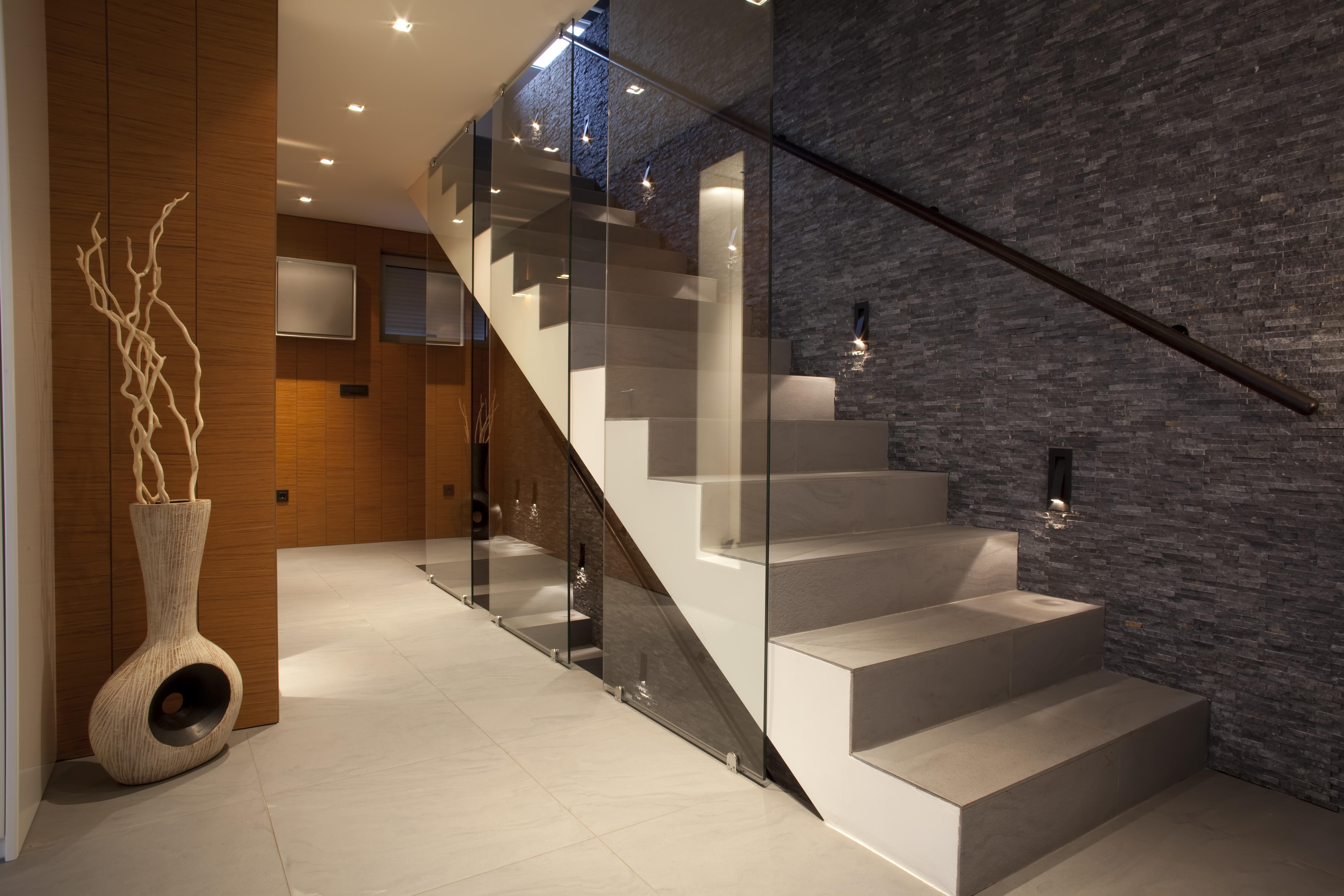 stairs and wall cladding